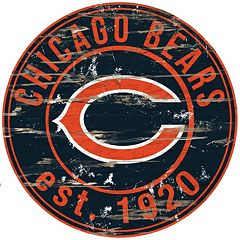 Chicago Bears Distressed 24' x 24' Round Wall Art