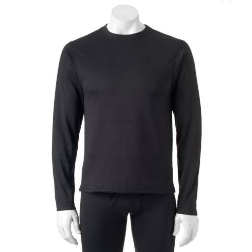 Men's VRY WRM Microfleece Performance Thermal Base Layer Crew Tee