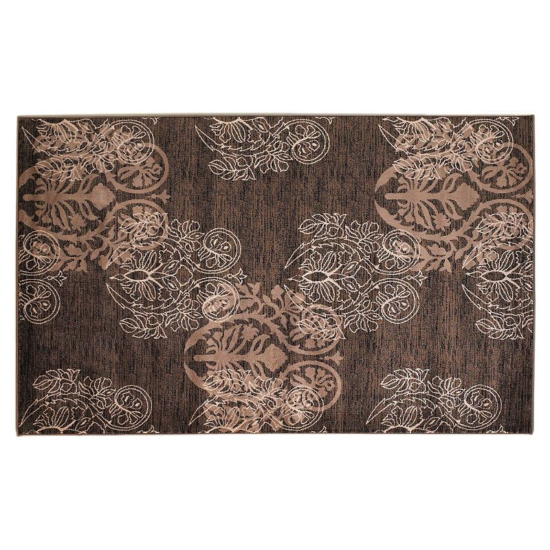 Linon Milan Scroll Rug, Brown, 2X3 Ft Add grace to your space with this Linon rug.FEATURES Power loomed Scroll pattern CONSTRUCTION & CARE Polypropylene Action backing Spot clean Manufacturer's 6-month limited warrantyFor warranty information please click here Imported Attention: All rug sizes are approximate and should measure within 2-6 inches of stated size. Pattern may also vary slightly. This rug does not have a slip-resistant backing. Rug pad recommended to prevent slipping on smooth surfaces. . Size: 2X3 Ft. Color: Brown. Gender: unisex. Age Group: adult. Material: Synthetic.