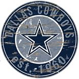"Dallas Cowboys Distressed 24"" x 24"" Round Wall Art"