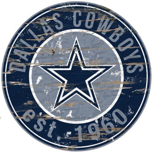 Dallas Cowboys Distressed 24 x 24 Round Wall Art