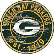 Green Bay Packers Distressed 24' x 24' Round Wall Art