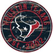 "Houston Texans Distressed 24"" x 24"" Round Wall Art"