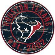 Houston Texans Distressed 24' x 24' Round Wall Art