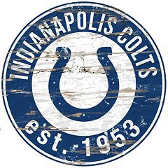 Indianapolis Colts Distressed 24' x 24' Round Wall Art