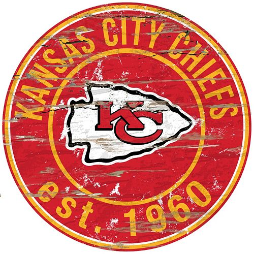 Kansas City Chiefs Distressed 24