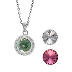 Charming Inspirations Interchangeable Crystal Pendant Necklace Set