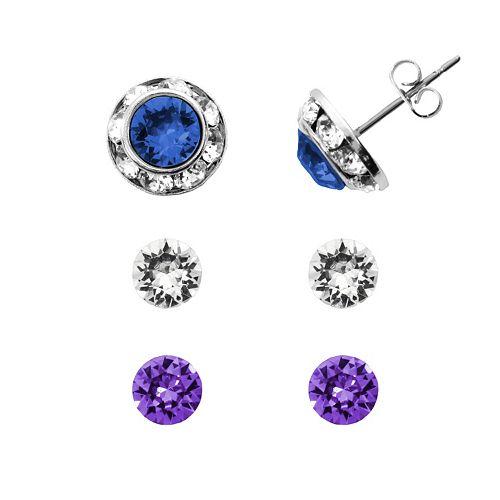 Charming Inspirations Interchangeable Halo Stud Earring Set