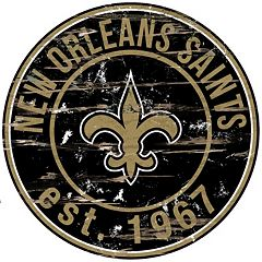 New Orleans Saints Distressed 24' x 24' Round Wall Art