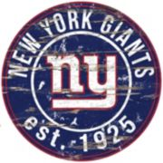 "New York Giants Distressed 24"" x 24"" Round Wall Art"