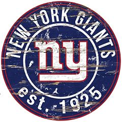 New York Giants Distressed 24' x 24' Round Wall Art