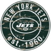 "New York Jets Distressed 24"" x 24"" Round Wall Art"