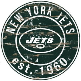 "New York Jets Distressed 24"" x 24"" Round Wall Art"