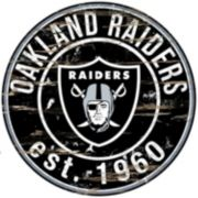 "Oakland Raiders Distressed 24"" x 24"" Round Wall Art"
