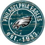 "Philadelphia Eagles Distressed 24"" x 24"" Round Wall Art"