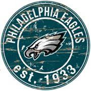Philadelphia Eagles Distressed 24' x 24' Round Wall Art