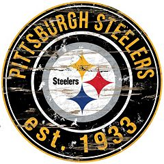 Pittsburgh Steelers Distressed 24' x 24' Round Wall Art