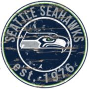 """Seattle Seahawks Distressed 24"""" x 24"""" Round Wall Art"""