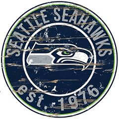 Seattle Seahawks Distressed 24' x 24' Round Wall Art