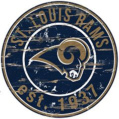St. Louis Rams Distressed 24' x 24' Round Wall Art