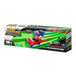 Max Traxxx 16-ft Tracer Racer Glow-In-The-Dark Duel Track Race Set
