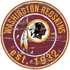 Washington Redskins Distressed 24' x 24' Round Wall Art