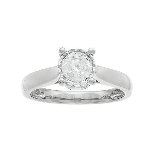14k Gold 1 Carat T.W. Diamond Engagement Ring