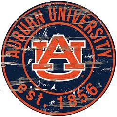 Auburn Tigers Distressed 24' x 24' Round Wall Art