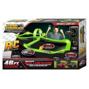 Max Traxxx 46-ft. Tracer Racer Glow-In-The-Dark Remote Control Infinity Loop Race Set