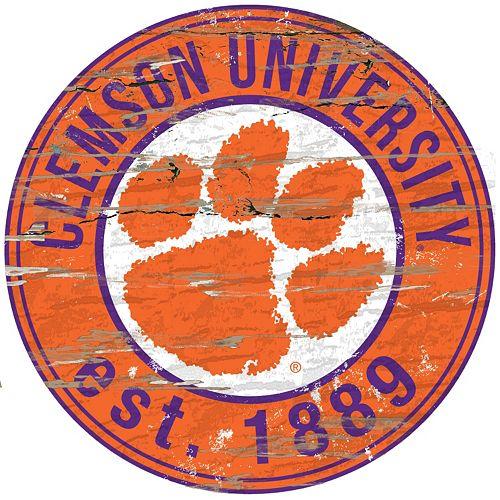 Clemson Tigers Distressed 24