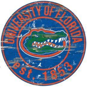 "Florida Gators Distressed 24"" x 24"" Round Wall Art"