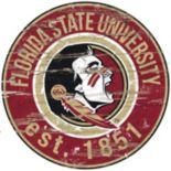 "Florida State Seminoles Distressed 24"" x 24"" Round Wall Art"