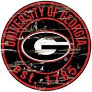 Georgia Bulldogs Distressed 24' x 24' Round Wall Art