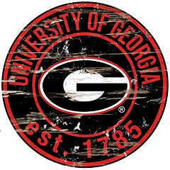 Georgia Bulldogs Distressed 24' x 24' Round Wall Art