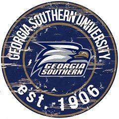 Georgia Southern Eagles Distressed 24' x 24' Round Wall Art