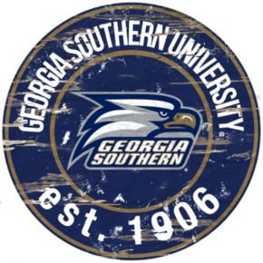 "Georgia Southern Eagles Distressed 24"" x 24"" Round Wall Art"