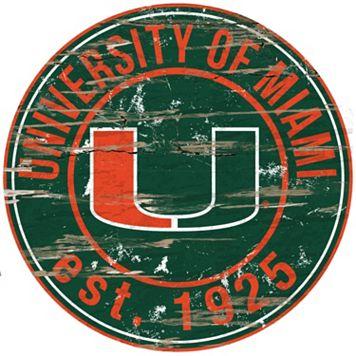 Miami Hurricanes Distressed 24