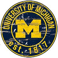 Michigan Wolverines Distressed 24