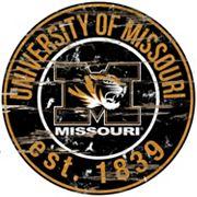 Missouri Tigers Distressed 24' x 24' Round Wall Art