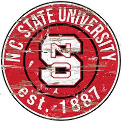 North Carolina State Wolfpack Distressed 24' x 24' Round Wall Art