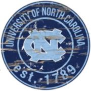"North Carolina Tar Heels Distressed 24"" x 24"" Round Wall Art"