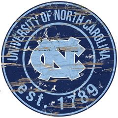 North Carolina Tar Heels Distressed 24' x 24' Round Wall Art