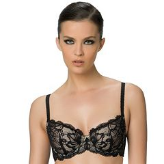 Paramour by Felina Bra: Dawn Stretch Lace Full-Figure Contour Demi Bra 130032