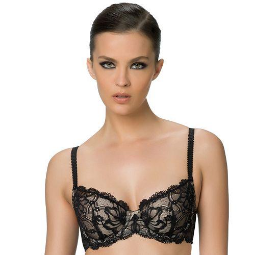 Paramour by Felina Bra: Dawn Stretch Lace Full-Figure Contour Demi Bra 130032