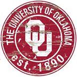 "Oklahoma Sooners Distressed 24"" x 24"" Round Wall Art"