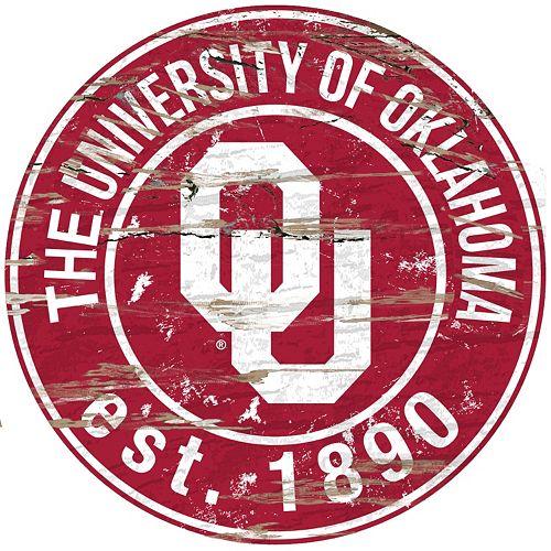 Oklahoma Sooners Distressed 24