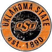 Oklahoma State Cowboys Distressed 24' x 24' Round Wall Art