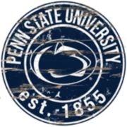 "Penn State Nittany Lions Distressed 24"" x 24"" Round Wall Art"