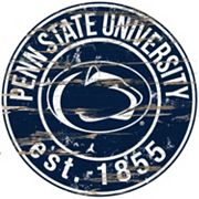 Penn State Nittany Lions Distressed 24' x 24' Round Wall Art
