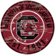 "South Carolina Gamecocks Distressed 24"" x 24"" Round Wall Art"